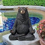 Design Toscano QM16037 Zen Black Bear Statue, 8