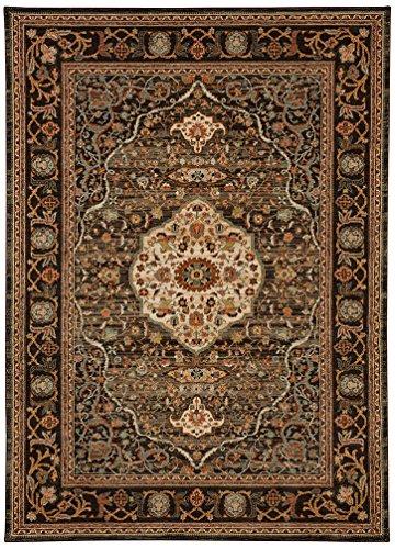 Karastan Spice Market Woven Petra Charcoal 8'x11' - Area Rugs by Karastan