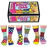 Verrückte Socken Oddsocks Polka Face für Frauen im 6er Set - Polka Face Strumpf Oddsocks