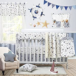 61PMIgO5DoL._SS300_ Nautical Crib Bedding & Beach Crib Bedding Sets