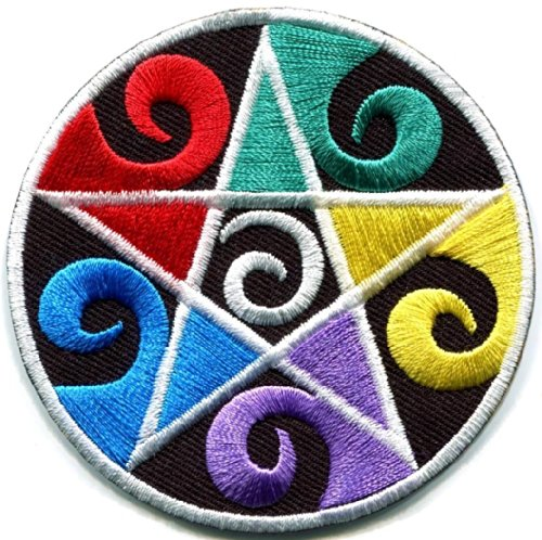 Pentacle Pentagram Magic Wicca Goth Witchcraft Applique Iron-on Patch New S-1057