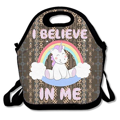 Dianqusha I Believe In Me Unicorn Women's Lunch Bag
