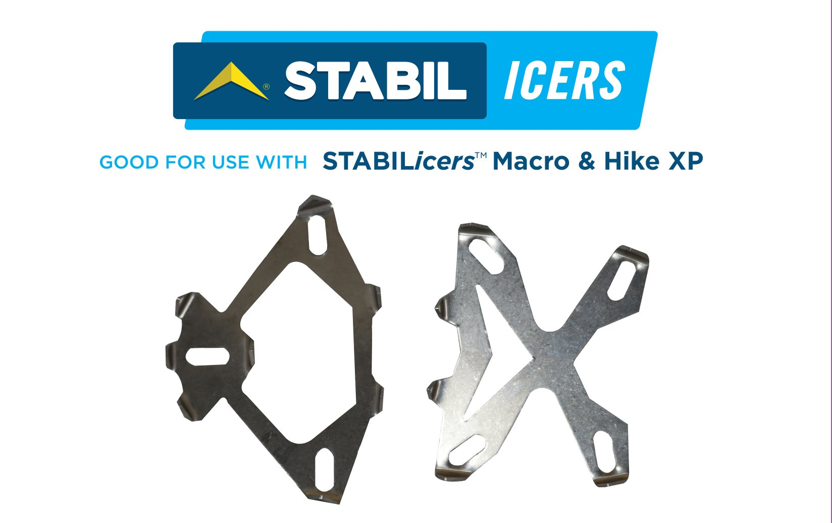 STABILicers Macro Cleat Pack 1/2'' Stainless Steel Ice Cleats For Snow, Ice, Rain, Outdoors, Winter, Slippery Terrain/Trails, Replacement Cleats Compatible with STABILicers Hike XP and Hike Macro, OS