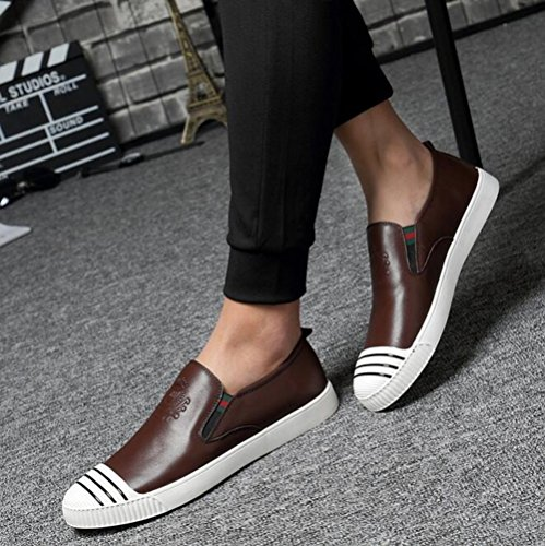 Business New Shoes Mens Formal Work Deck Driving Shoes Fashion Leather Casual B Shoes HUAN Peas Shoes P5zx4U4