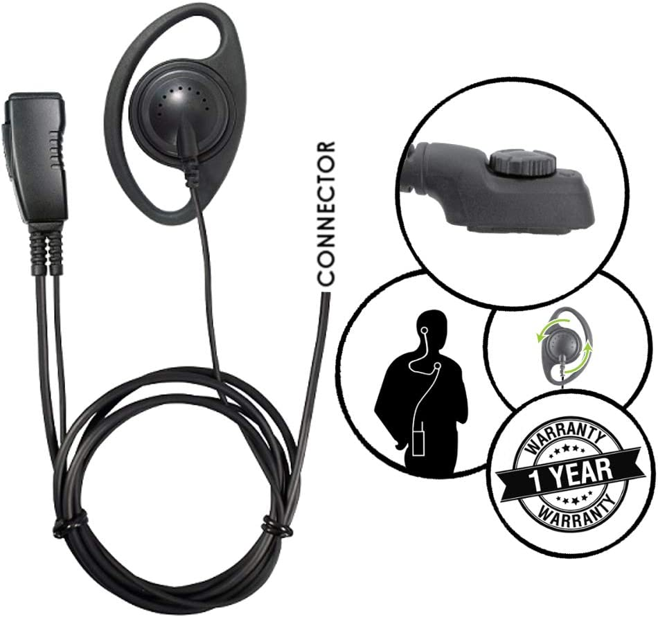 Pryme 1-Wire D-Ring Earpiece for Harris Momentum HDP100 and HDP150 Two Way Radios 61PMJyU3nFL