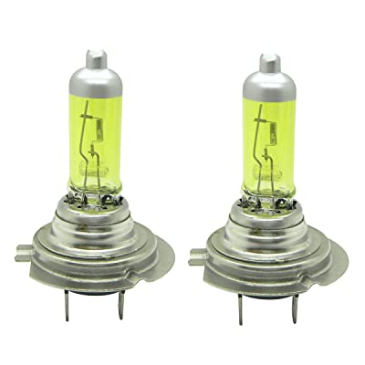 WerFamily H7 High Performance Golden Yellow Xenon Halogen Headlight Fog Light Bulb 55W 3000K (Pack of 2): Automotive