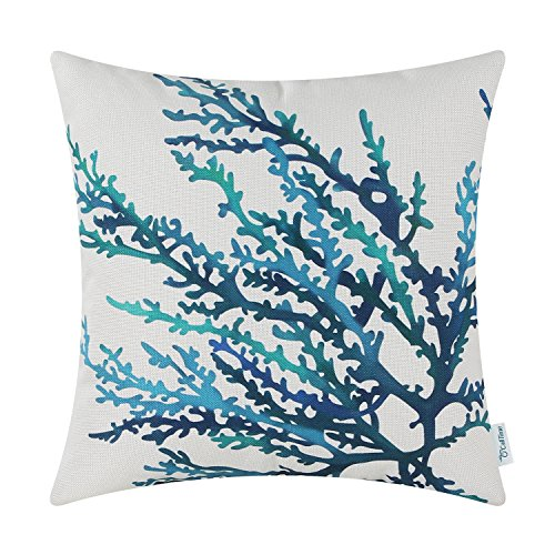 CaliTime Canvas Throw Pillow Cover Shell for Couch