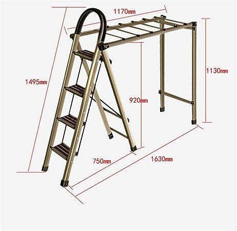 Ajustable Tendedero, Dos en uno 4 Pasos Escalera y Tendederos, Interior y Al Aire Libre Balcón Plegable Vertical de Torre de Acero,4stepsladderAirer: Amazon.es: Hogar