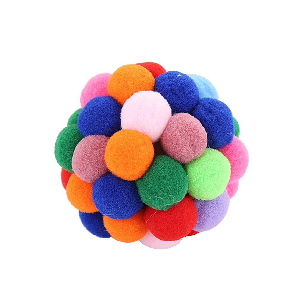 wanshenGyi Cat Toy, Creative Colorful Elastic Ball Cat Kitten Teaser Pet Interactive Playing Toy - L, Office, Home, Travel, School, All Code.