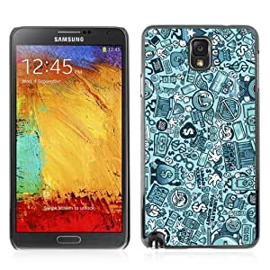 Designer Depo Hard Protection Case for Samsung Galaxy Note 3 N9000 / Vintage Retro Pattern