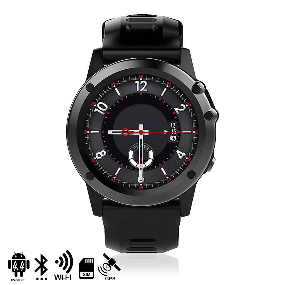Silica DMX121BK DMX121BK - Smartwatch Phone h1 Dual Core con Sistema operativo Android 44 con cámara, GPS y wi-fi Negro