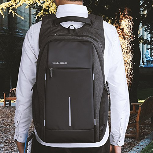Business Laptop Tasche Rucksack 15.6 zoll für Damen & Herren - Cornasee Wasserdicht Tagesrucksack Schulrucksack College-Rucksack mit USB-Anschluss,Große Kapazität 35L Schwarz