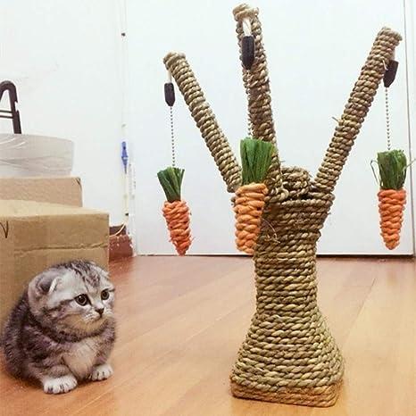 Daeou Árbol para Gatos rascador Cuerda de Espada Gato y Pinza de uña de Gato Cat ...