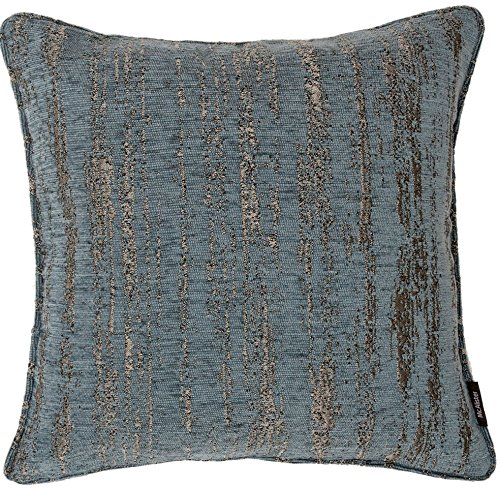 McAlister Plush Textured Chenille Plump Filled 20″ Throw Pillow | Denim Blue 20×20″ Decor Toss Cushion | Metallic Velvet Linen Modern Rustic Accent For Sale