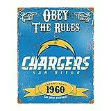 Party Animal San Diego Chargers Embossed Metal Vintage Sign