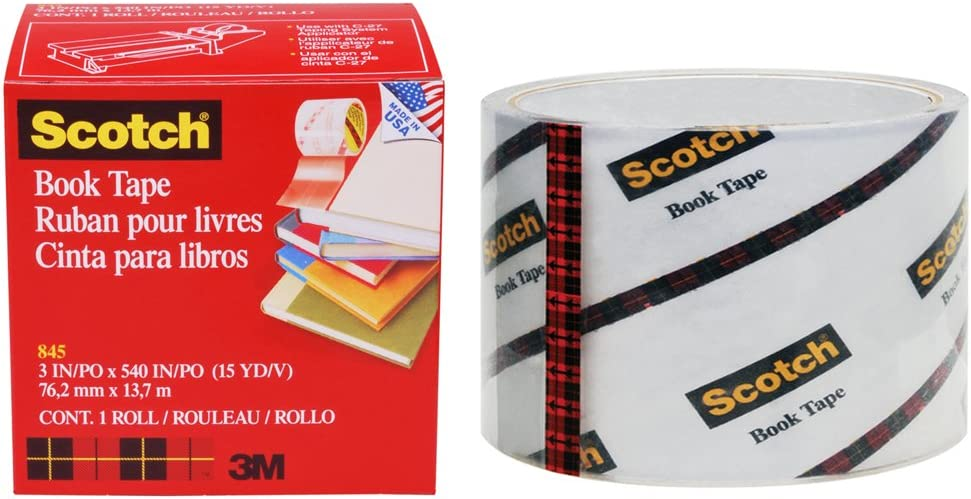Scotch Book Tape 845, 3 Inches x 15 Yards - FF084574