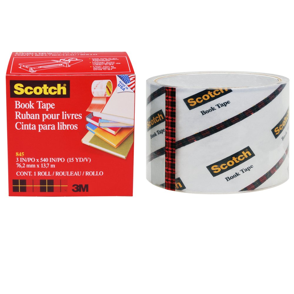 Scotch Book Tape, 38.1mm x 13.7m, 1 Roll, (845-36) 7382