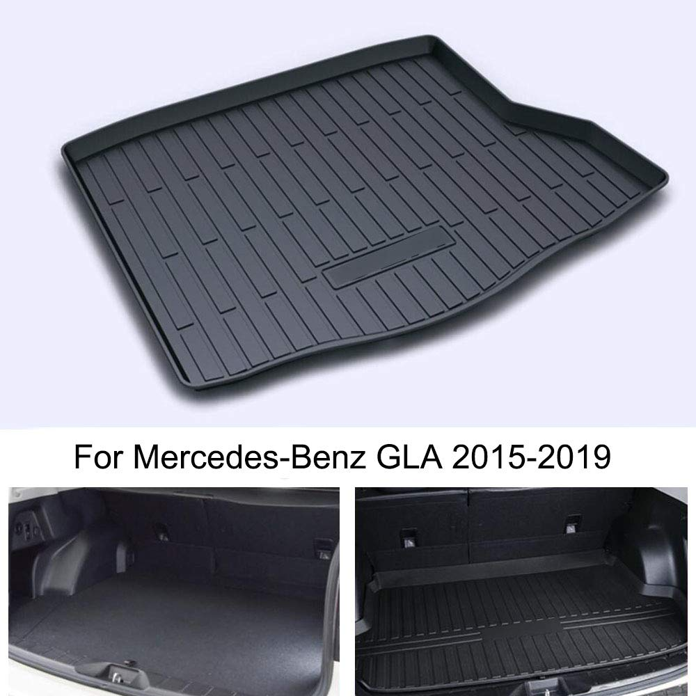 Momoap//Car Black Leather Car Boot Pad Liner Cargo Mat Tray Trunk Floor Protector Mat for Mercedes-Benz GLA 2015-2019