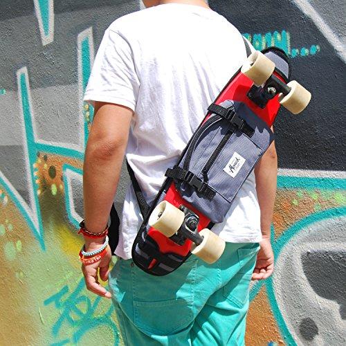 """Rucksäcke für mini cruiser 22"""", in grau. Crossbody Hipster Rucksack Slingbag Crossbag Skaterrucksack Body Bag Hipster Style Umhängerucksack mit Ihren Individeullen"""