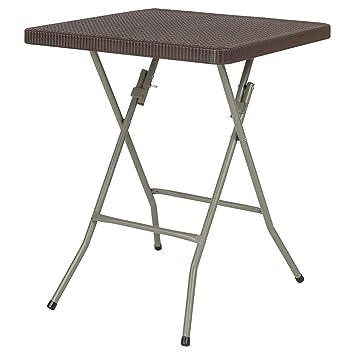 Amazon.com: Juego de 6 muebles de mesa de ratán de diseño ...