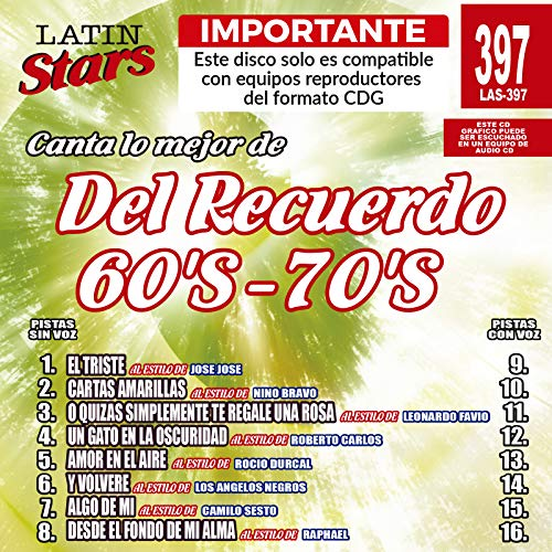 Karaoke Latin Stars by Del Recuerdo 60's-70