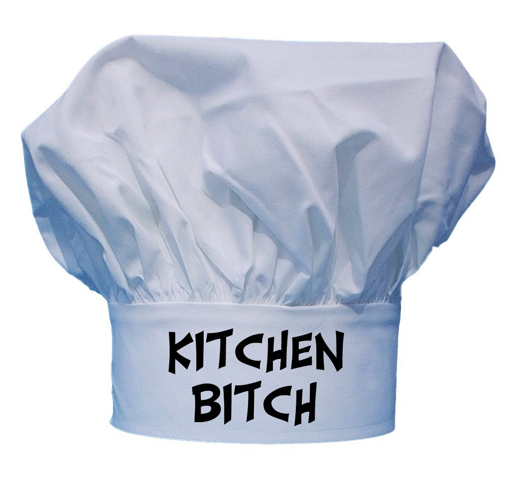 Kitchen Bitch Funny Chef Hat | White Toque by CoolChefHats