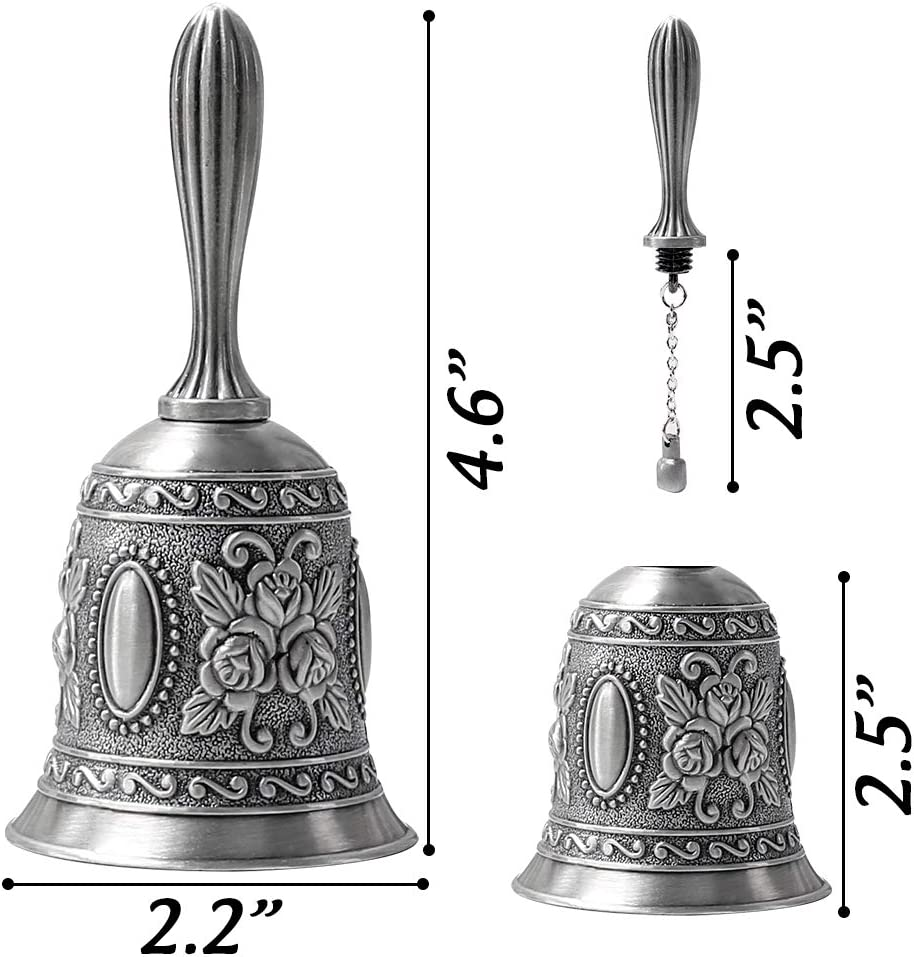 German Silver Plated Hand Bells Call Bell Wedding Bells Hand Crafted Home Decorations