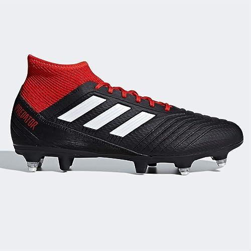 adidas Predator 18.3 SG, Scarpe da Calcio Uomo, Nero (Negbás/Ftwbla/