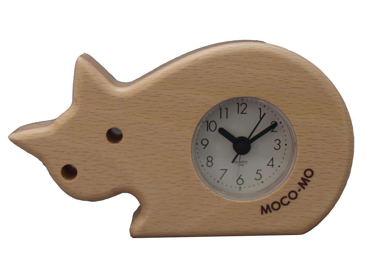 ウッドニー MOCO-MO モコモ アラームクロックねこ 置き時計 MM035-CN B00GJCQK5W