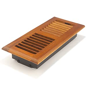 Accord AOFROML410 Floor Register with Red Oak Louvered, 4-Inch x 10-Inch (Duct Opening Measurement), Medium Finish