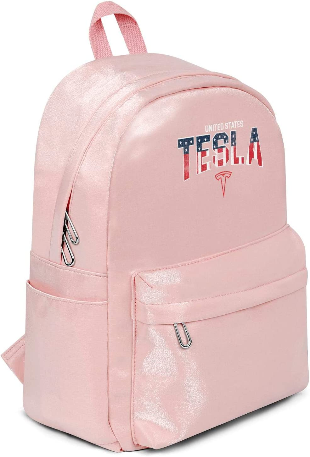Womens Girl Boys Bag Purse Fashion Nylon Water Resistant 13 Inch Laptop Compartment Backpack Bag Purse Pink Tesla-red-blue-energy-Distressed-Linear