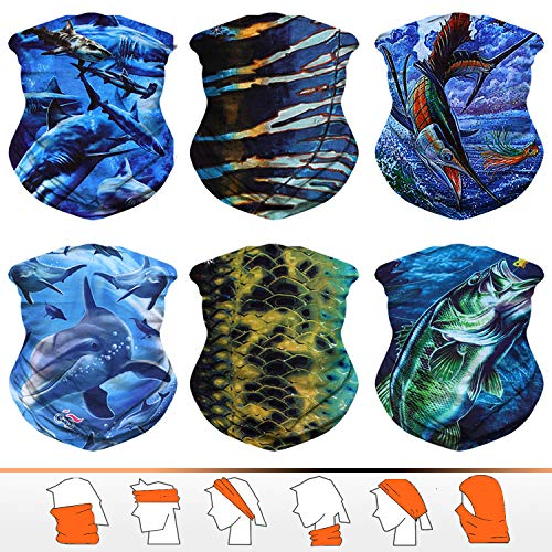 JOEYOUNG Headwear, Bandana, Neck Gaiter, Head Wrap, Headband for Men and Women, Multifunctional Head Scarf, Face Mask, Balaclava, Magic Scarf, Sweatband for Fishing, Yoga, ()