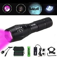 Vastfire réglable 850nm IR 5W infrarouge, 34mm, objectif, vision de nuit Zoom Osram LED Lampe de poche de chasse en extérieur, 18650ou 3AAA