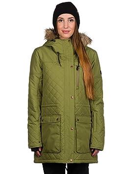 Mujer Chaqueta de Snowboard Ride Madison Chaqueta, Color Verde Militar, tamaño Medium
