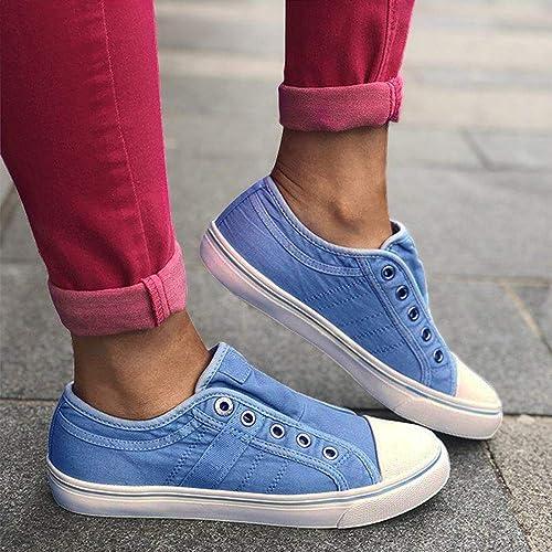 8414757591b32 FIRENGOLI Saralove Women's Canvas Shoes Low Top Fashion Sneakers ...