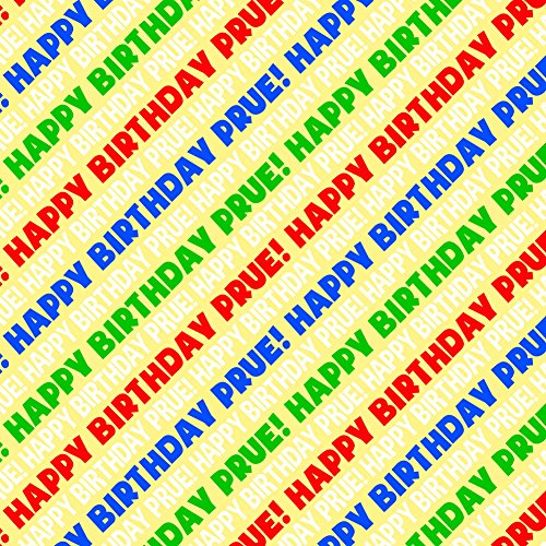 Prue Happy Birthday Premium Gift Wrap Wrapping Paper Roll - Rainbow Multi-Colored
