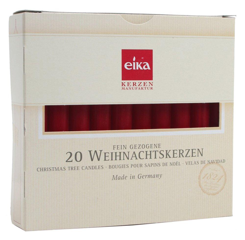 Bordeaux Eika-Stumpenkerzen 4er-Pack 8 x 4 cm /Ø