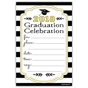 Amazoncom 2018 Graduation Invitations 20 Count With Envelopes