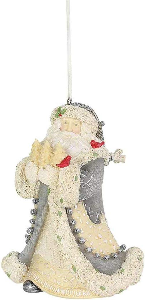 Enesco Heart of Christmas Woodland Santa Bountiful Hanging Ornament 4.53 Inch Multicolor
