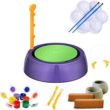 Elikliv Pottery Wheel Diy Arts Crafts Ceramic Pottery Wheels Clay Children Ceramic Machine Miniature Electric Ceramic Clay Tool Diy Educational Toys Gift For Kids Beginners Amazon Co Uk Kitchen Home