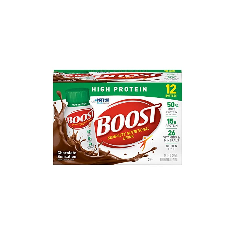 Boost Ready To Drink, High Protein, 8 Ounce (Pack of 24)