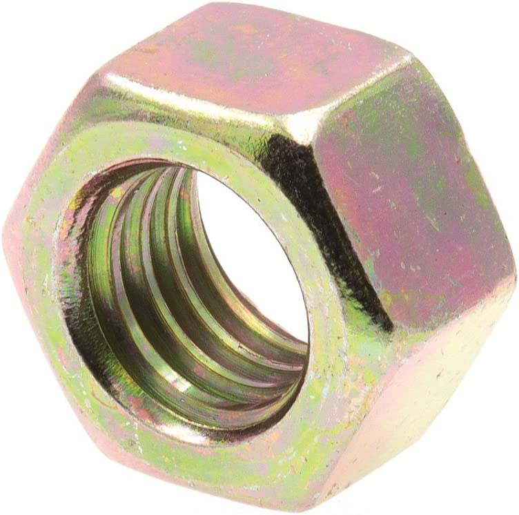 Prime-Line 9086941 Finished Hex Nuts 3//8 in.-16 Grade 8 Yellow Zinc Plated Steel Grade 8 50-Pack