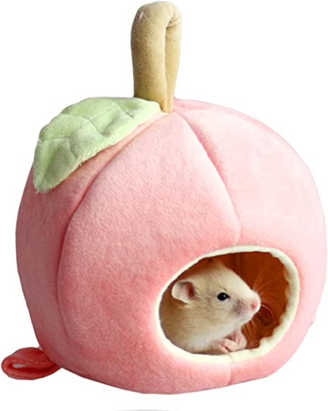 Amazon Com Alfie Pet Pablo Sleeping Cave Bed For Mouse Chinchilla Rat Gerbil And Dwarf Hamster Color Pink Pet Supplies