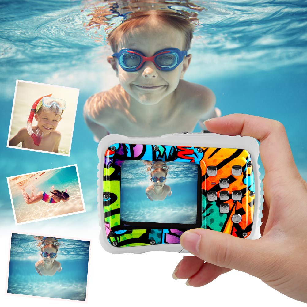 Poogig 【2019 Newest Kids Camera】 Kids Camera, Waterproof Digital Camera for Children, 12MP HD Underwater Camcorder with 3M Waterproof, 2.0 Inch LCD Screen, 8X Digital Zoom, Flash Mic and 8G SD Card by Poogig (Image #6)