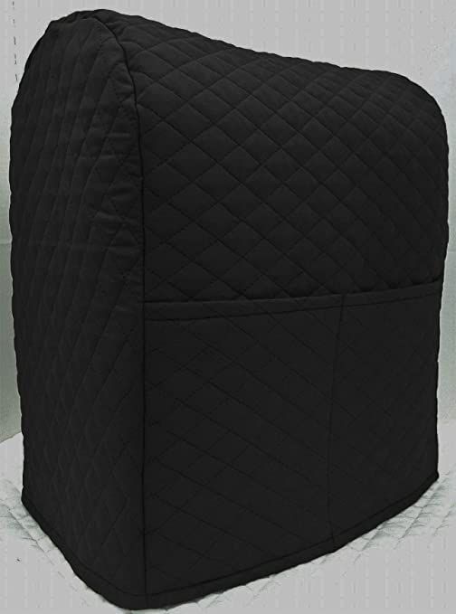 Penny\'s Needful Things Quilted Cover Compatible with Kitchenaid Stand Mixer  (Black, 7qt Proline/8qt Commercial)