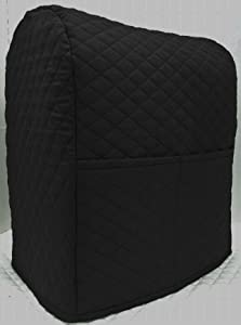 Penny's Needful Things Quilted Cover Compatible with Kitchenaid Stand Mixer (Black, 7qt Proline/8qt Commercial)
