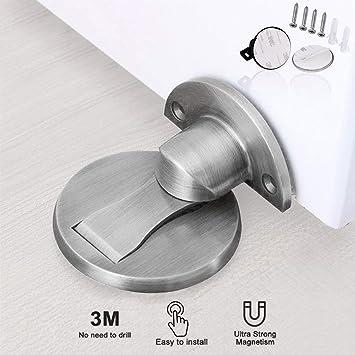 Door Stop Catch Stainless Steel Magnetic Door Holder Home Office Heavy Duty