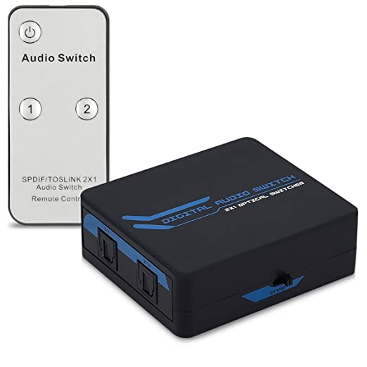 15 opinioni per kwmobile duplicatore Switch digitale audio- commutatore a 2 uscite per cavo