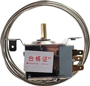 ZXHAO Refrigerator Temp Control Freezer Temperature Control Thermostat 3 Pin 1.5M WDF18-L