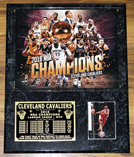 CLEVELAND CAVALIERS 2016 NBA CHAMPIONS LeBRON JAMES MVP DELUXE TEAM PHOTO PLAQUE